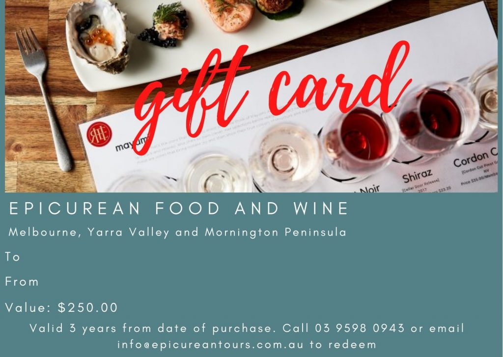 gift card food and wine